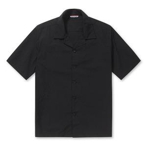 까르뜨블랑슈 블랙 여름 시어 서커 반팔 셔츠M8 WS62