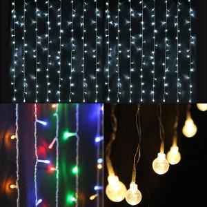 LED 연결 커튼라이트 / 트리전구 / 트리램프
