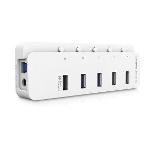 UH505-QC1 (유전원) 5포트 USB허브 USB3.0 퀵차지1개