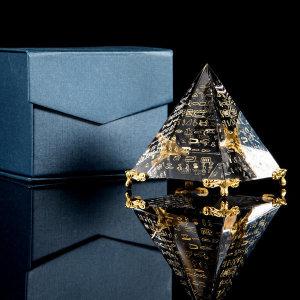 크리스탈 피라미드 집들이 선물 인테리어 카페 개업
