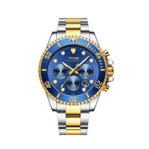 TEVISE T823 스테인레스 스트랩 남성용 메탈 손목시계