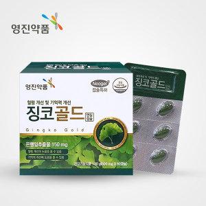 영진약품 징코골드 혈행개선 기억력개선 60캡슐