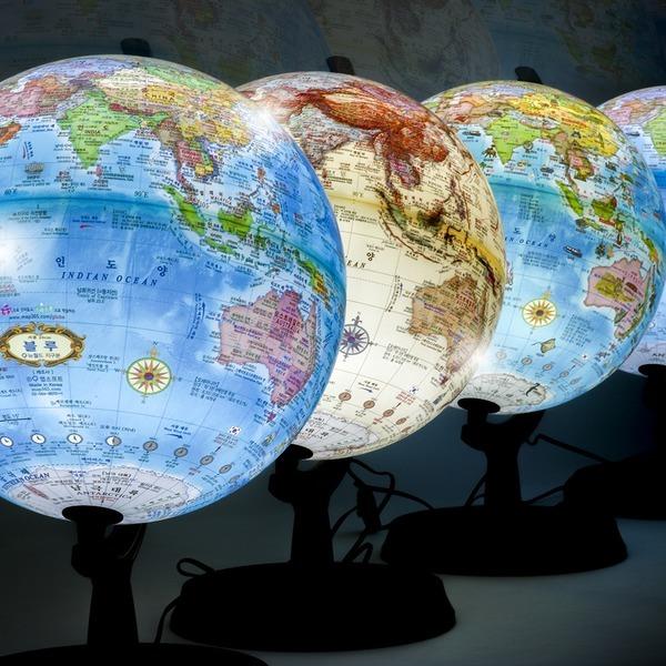 24cm 오션 조명 별자리 지구본 LED 인구수 수록