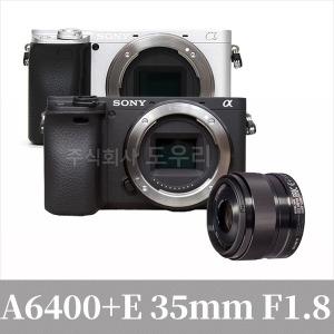 소니정품 카메라 a6400 BODY+SEL35mmF1.8렌즈/ 도우리