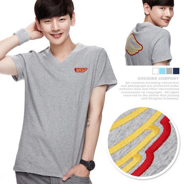 054_ 플라이 V넥 반팔 티셔츠 (G10MMRT054)