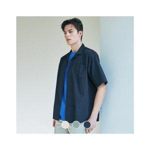 남성 포플린 오픈카라 반팔 셔츠 (10049512)