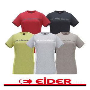 (현대백화점) 아이더  여성 로고 라운드 티셔츠 DWS17218