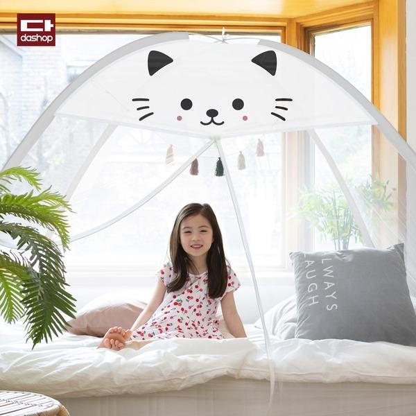1초완성 원터치모기장 텐트 침대 사각 아기 대형 창문