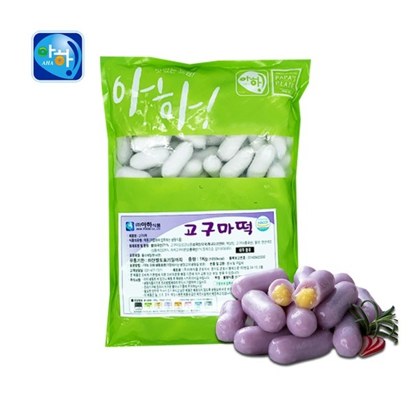 아하식품 고구마떡 1kg 고구마사리떡 떡사리