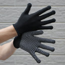 10p 신축성 뛰어난 블랙 도트 장갑/미끄럼방지 목장갑