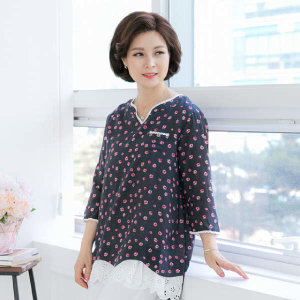 (현대Hmall)엄마옷 마담4060 꽃펀칭티셔츠-XDTE906003-
