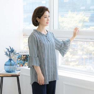 (현대Hmall)엄마옷 마담4060 잔프릴트임블라우스-XDBL906001-