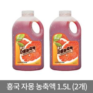 냉장포장 흥국FB 자몽 농축액 1.5L x 2개 과일농축액