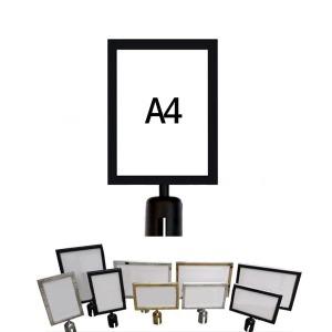 메뉴 안내 포스터 게시 표지 판 사인폴  블랙세로형a4