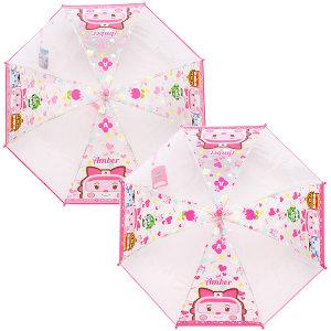 엠버 하트 투명50 아동우산 유아우산 투명 자동 우산