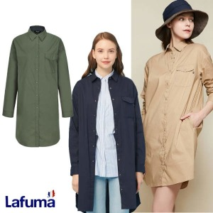 (현대백화점)라푸마 LFSH9B320 여성 루즈핏 롱기장 셔츠