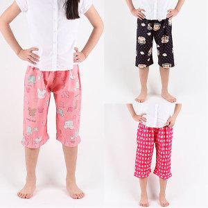 아동파자마  8부잠옷바지 실내복 국내산 특면100%