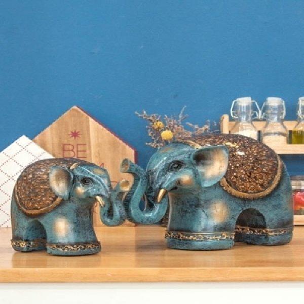 8011 재물 청 코끼리 테이블장식 인형장식품 집들이선