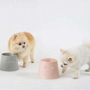 도자기 강아지 밥그릇 고양이 물그릇 코코(핑크)