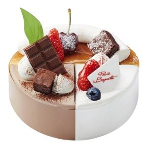 (파리바게뜨) 치즈가 두번반한 딸기 초코케이크