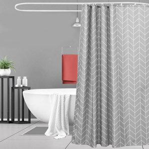 패브릭 샤워 커튼 방수 화장실 욕실 욕조 목욕 가리개