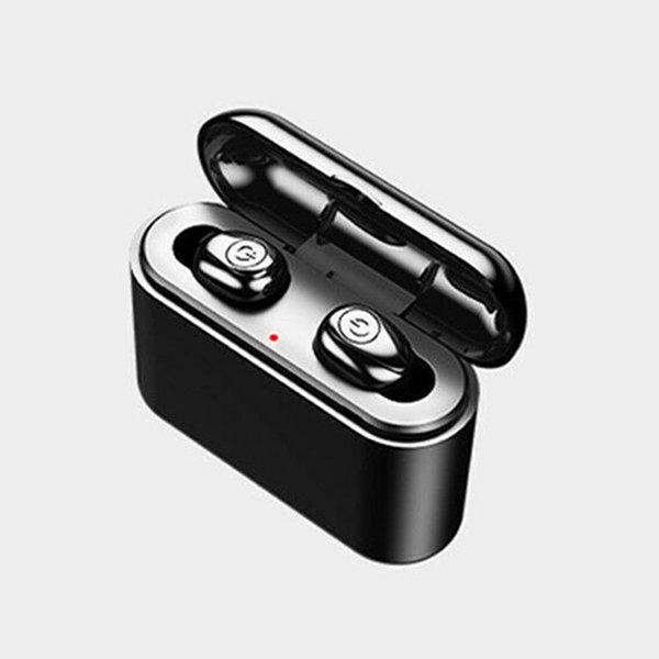 미니 TWS 5D 스테레오 무선 이어폰 블루투스5.0 블랙