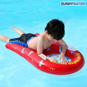 써니워터 투명 파도타기 튜브(레드) 물놀이 수영