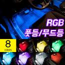 차량용 RGB풋등 LED바 리모컨 패키지/튜닝 실내등