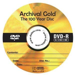 델킨 Archival Gold 100년 수명 장기 보존 DVD-R 1장