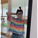 여름신상 여성바팔티 줄무늬 티셔츠 빠른직구