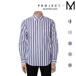 프로젝트엠 남성 포플린 스트라이프 셔츠 EPY2WC1321