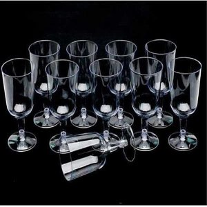 플라스틱 캠핑용 와인 컵 10입 파티 용 생일 야외용
