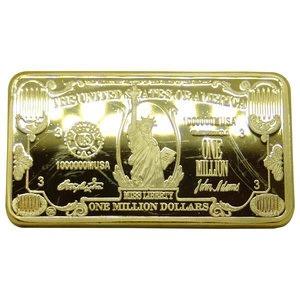 골드바 기념골드바 기념지폐 기념주화 백만달러문양