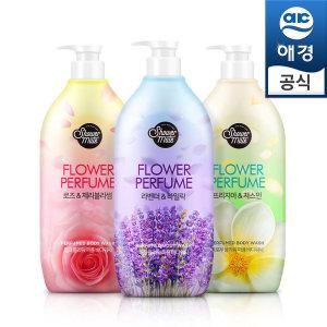 샤워메이트 내추럴 퍼퓸바디워시 x3개(로즈+라벤+프리)