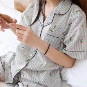 김양리빙 / 거즈 면 당근 홈웨어 잠옷 파자마