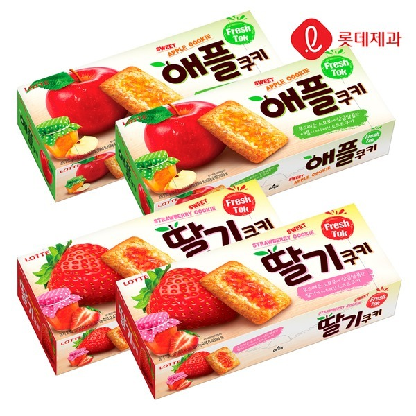 애플쿠키/딸기쿠키 230g 2+2개 (총 4상자)