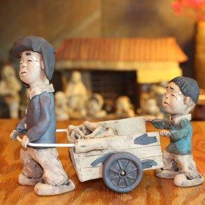 토우인형 옛날 연탄수레 전통소품 인테리어 장식품