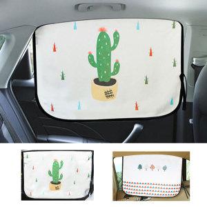 흔적없는 차량용 자석햇빛가리개 뒷좌석용 60x45cm