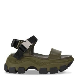 TheDoubleF x Prada  Green chunky sandal