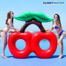 써니워터 특대형 체리 튜브 원형 물놀이 보트 수영