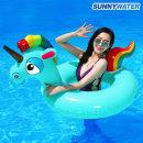 써니워터 원형 유니콘 튜브 민트 물놀이 보트 수영