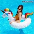 써니워터 원형 유니콘 튜브 화이트 물놀이 보트 수영