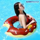 초코 도넛 튜브 100cm 원형 라이더 라운지 물놀이용품