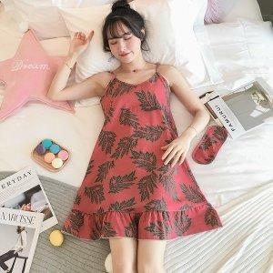 여성 홈웨어 여름잠옷 원피스 면화 빅사이즈07