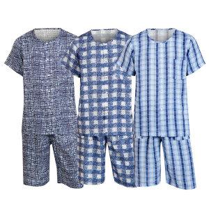 남자 풍기 인견 잠옷 세트 남성 여름 수면 홈웨어