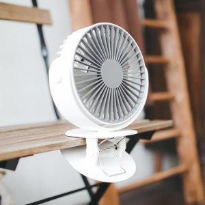 휴대용 클리퍼 무선 선풍기 /클립형 화이트