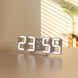 퓨어 미니 LED 탁상 시계 화이트