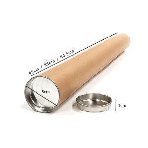 지관통(포스터/브로마이드 담는 통) Size : 내경 5cm/길이49cm/길이55cm/길이64.5cm