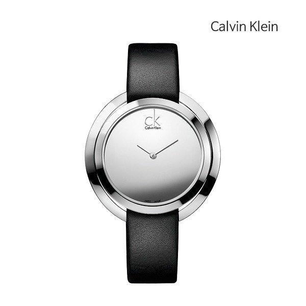 캘빈 클라인 블랙 레더 시계