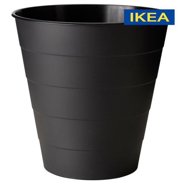 휴지통 블랙 10L / 쓰레기통 화장실 욕실 인테리어